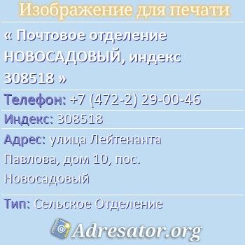 �������� ��������� �����������, ������ 308518 �� ������: ��������������� �������,����10,����. �����������