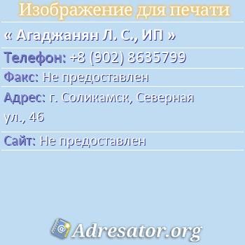 Агаджанян Л. С., ИП по адресу: г. Соликамск, Северная ул., 46