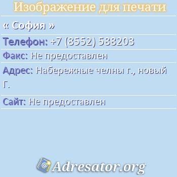 София по адресу: Набережные челны г., новый Г.