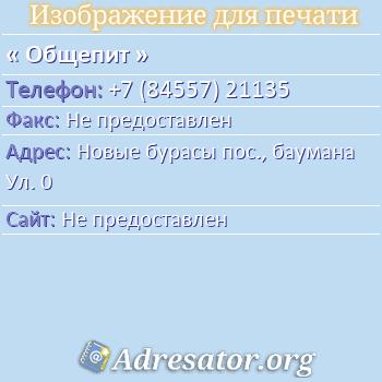 Общепит по адресу: Новые бурасы пос., баумана Ул. 0