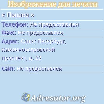 Пышка по адресу: Санкт-Петербург, Каменноостровский проспект, д. 22